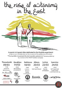 The rise of autonomy in the east: 6 events in 6 greek cities dedicated to the Kurdish experiment
